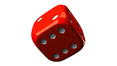 Red Dice On White Background Stock Video Footage