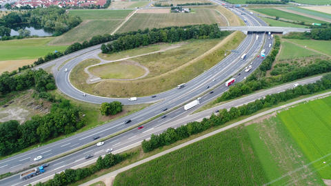 Aerial view of a highway Footage