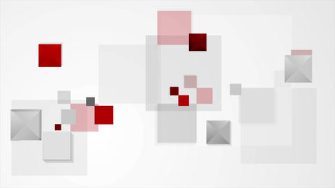 Abstract tech minimal geometric squares video animation Animation