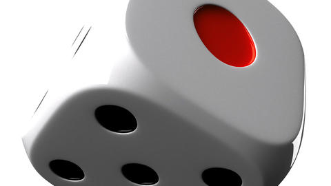 White Dice On White Background Stock Video Footage