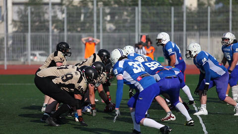 Players of teams are fighting for victory in the game.l Filmmaterial