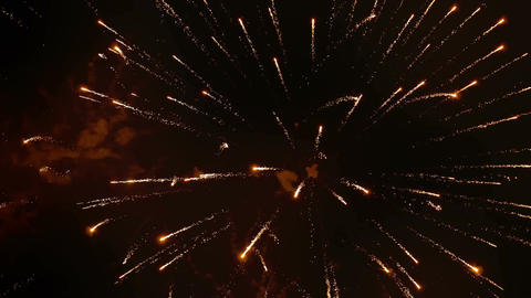 Varied Colorful Fireworks, 180 fps Real SlowMo Footage