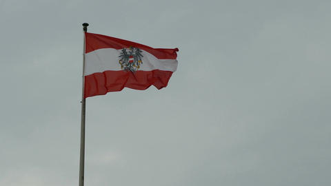 Flag of Austria moving in de wind Footage