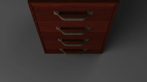 Spotlighted Drawer With Green Chroma Key Stock Video Footage