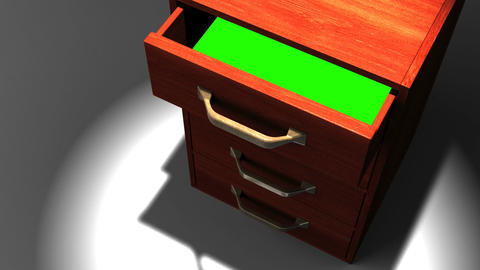 Spotlighted Drawer With Green Chroma Key Animation