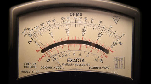 Vintage multimeter Exacta 60fps ビデオ