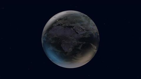 Beautiful Earth rotation Footage