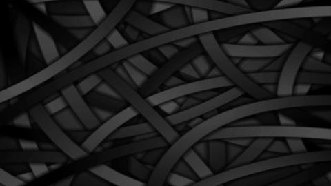 Black curved stripes abstract motion background Animation