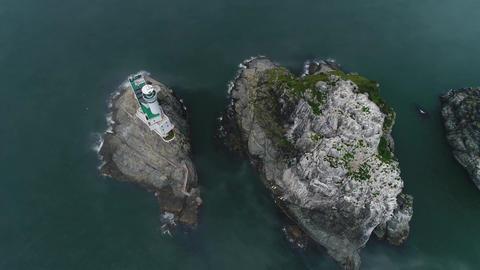 Oryukdo islands landscape in mist 02 Live Action