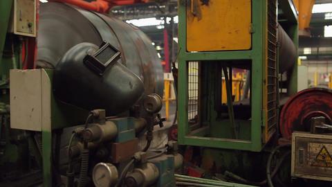 Welding helmet in factory Live Action