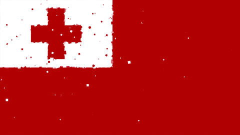 celebratory animated background of flag of Tonga appear from fireworks Animation