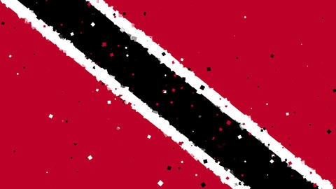 celebratory animated background of flag of Trinidad and Tobago appear from firew Animation