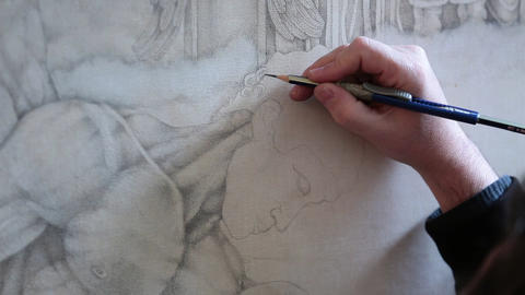 Drawing a man Footage