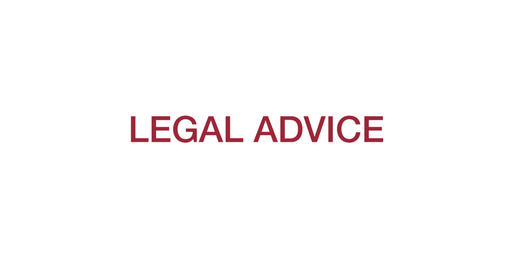Legal advice. Red Text Animation. 4K Animation