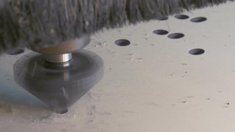 Cnc drills holes Footage
