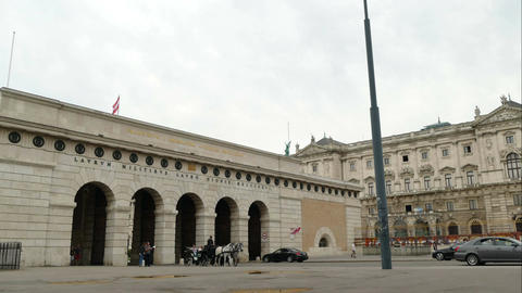 The outer gate of the Hofburg in Vienna, time lapse Footage