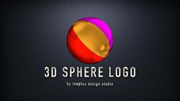 3D Sphere logo Apple Motionテンプレート
