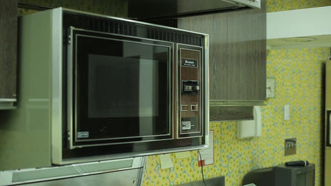 Home kitchen microwave Live Action