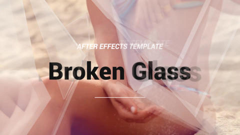 Broken Glass After Effects Template