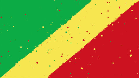 celebratory animated background of flag of Congo appear from fireworks Animation