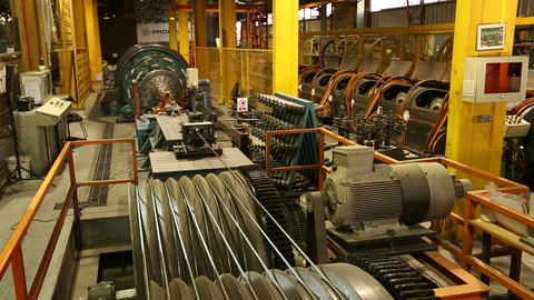 Cable factory floor Footage