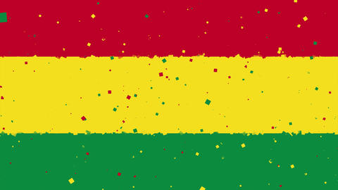 celebratory animated background of flag of Bolivia appear from fireworks Animation