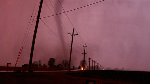 Tornado Thunderstorm Illinois Live Action