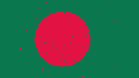 celebratory animated background of flag of Bangladesh appear from fireworks Animation