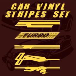 Car vinyl stripes set Vektor