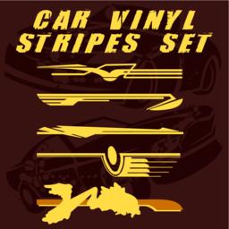 Car vinyl stripes set Vector