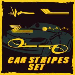 Car vinyl stripes set Vektorgrafik