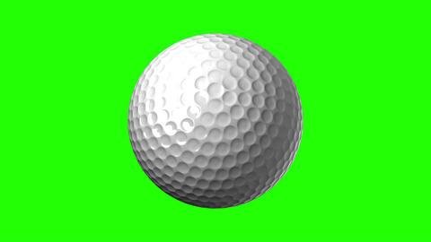 Golf Ball On Green Chroma Key Animation