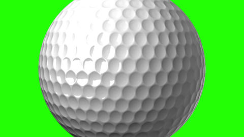 Golf Ball On Green Chroma Key Animation