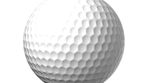 Golf Ball On White Background Animation