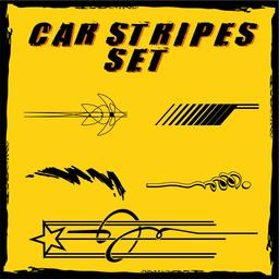 Car vinyl stripes set ベクター