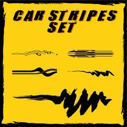 Car vinyl stripes set Vector