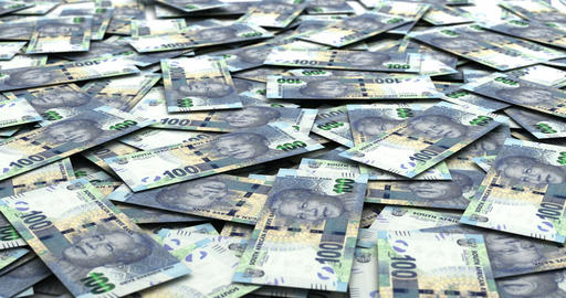 Stack of South African Rands Animation