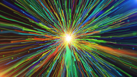 Colorful Line Streaks Burst Animation