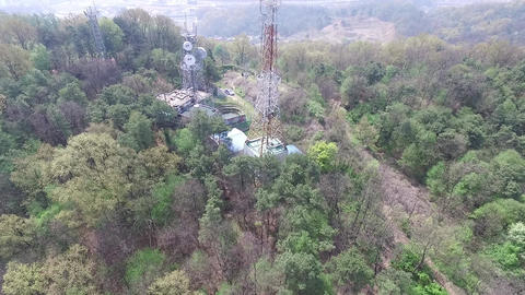 transmission tower of Aerial photography Footage