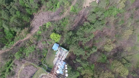 Transmission tower aerial image Live Action