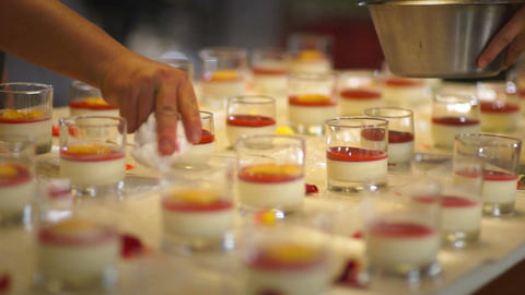 Red Fruity Jam in the Panna Cotta Live Action