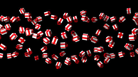 Gift Boxes On Black Background CG動画