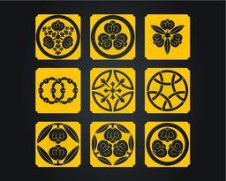 Japan culture decorative ornaments ベクター