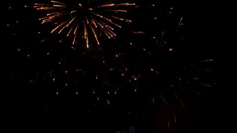 Fireworks exploding in the night sky at Israel 2017 independence day celebration Footage