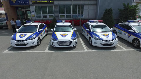 Patrol car Stock Video Footage