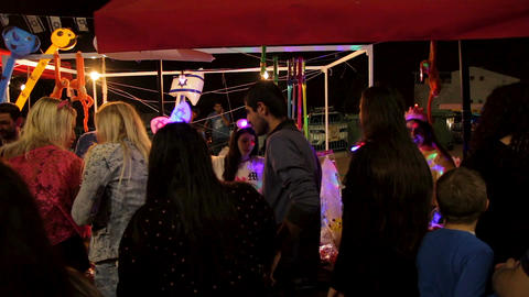 People having fun during Israel 69th Independence day celebrations Footage