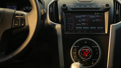 Interior truck dashboard device Live Action