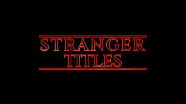 Stranger Titles After Effects Template