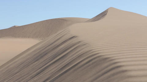 Sand dune wind patterns Footage