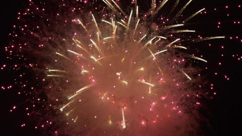 Japanese fireworks particle slow-motion Filmmaterial